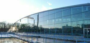 Gryaabs skivfilteranläggning med stora glaspartier