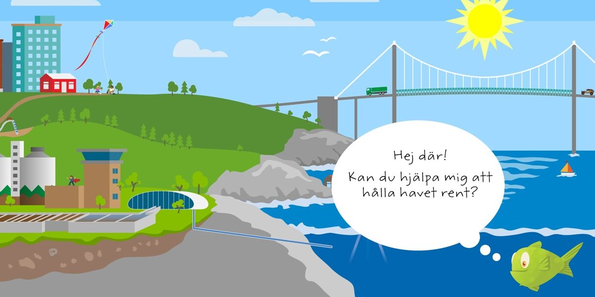 Teknade spelets Spoleborgs skyline