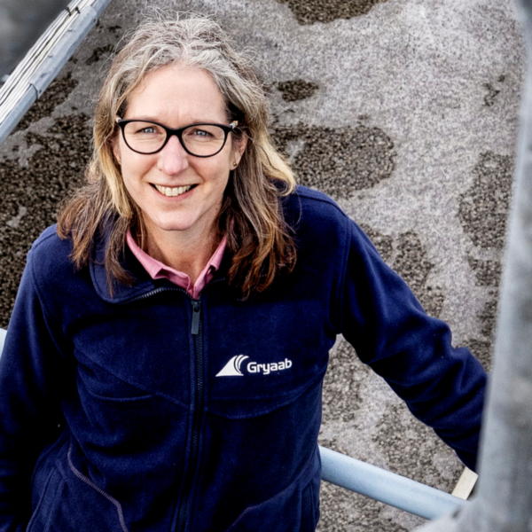 Vd Karin van der Salm på anläggningen Foto: Nicklas Elmrin