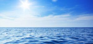 hav i solsken