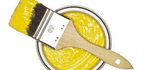 gul konstnärsfärg